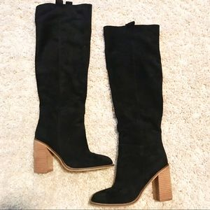Black knee high boots size 9